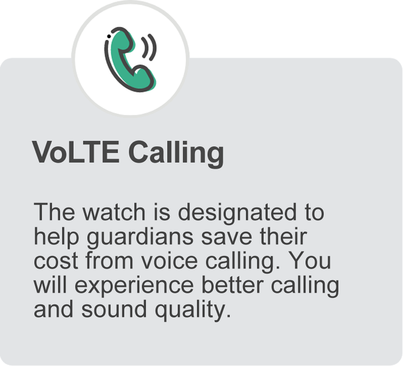 Phoenix 4G Smart Watch VoLTE Calling Feature