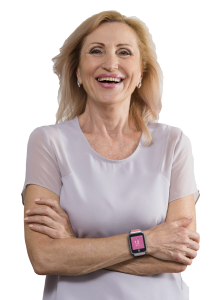 iGPS Phoenix 4G Smart Watch Smiling Senior Woman