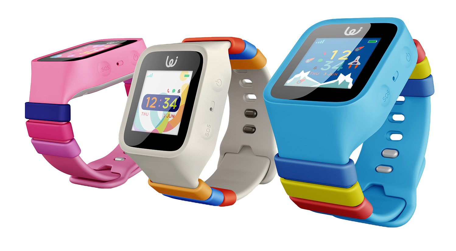 GPS Wizard Watch Pink, White, Light Blue